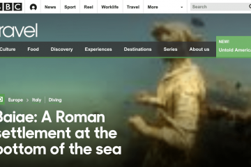 BBC reports on the MUSAS monitoring project in Baiae submerged archeological site